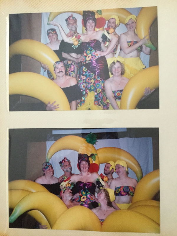 Singers with bananas