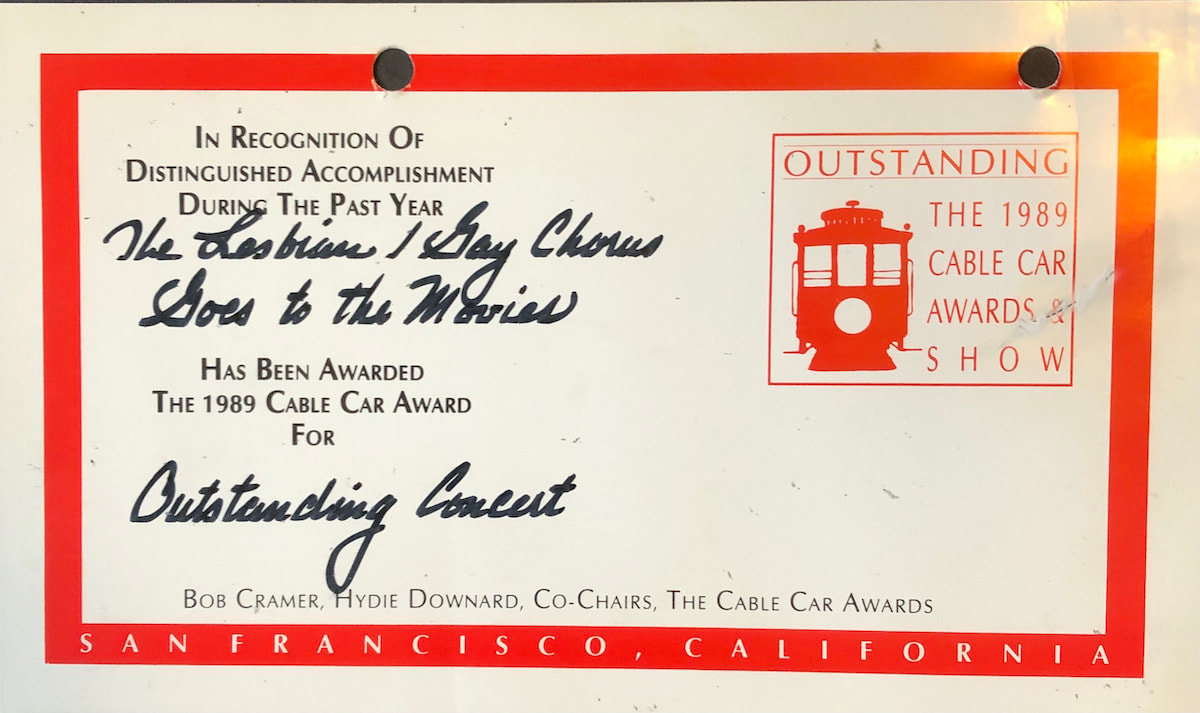1989 Cable Car Award