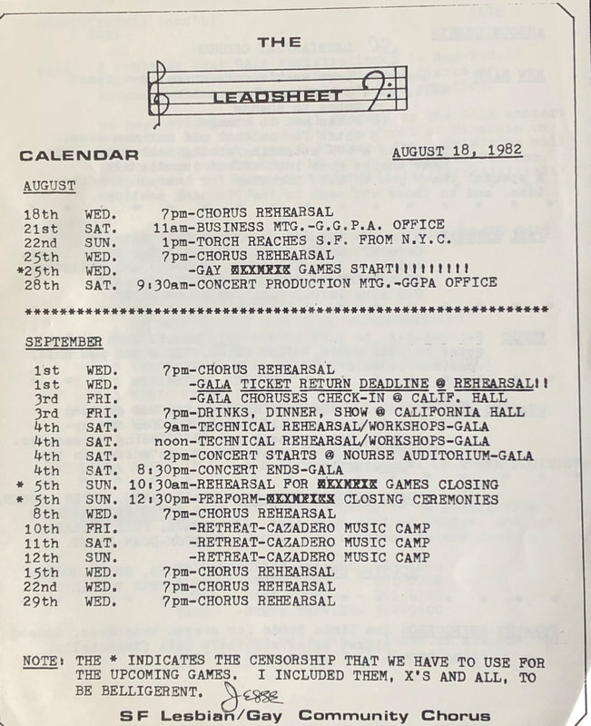 Page from Lead Sheet
