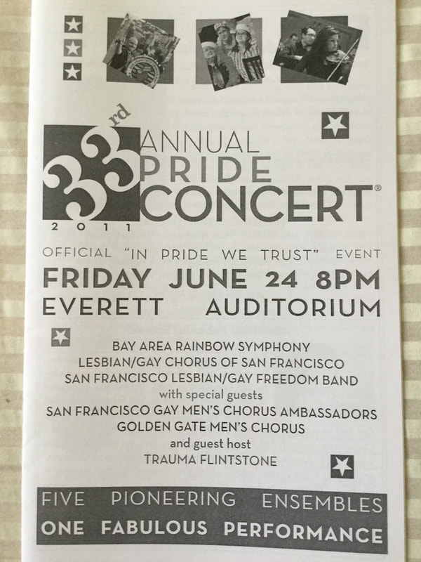33rd Annual Pride Concert program